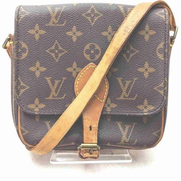 """Louis Vuitton Monogram Mini Cartouchiere Flap Cro"